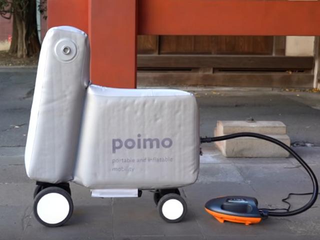 Japanse studenten ontwikkelen opblaasbare scooter